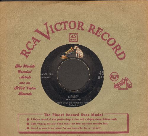 Cugat, Xavier & His Waldorf Astoria Orchestra - Siboney/My Shawl (with vintage RCA company sleeve) - NM9/ - 45 rpm Records