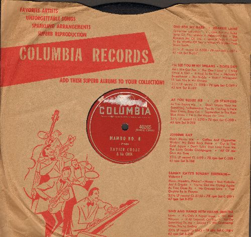 Cugat, Xavier & His Orchestra - Mambo No. 8/Cha Cha Cha (10 inch 78 rpm record with Columbia company sleeve) - EX8/ - 78 rpm