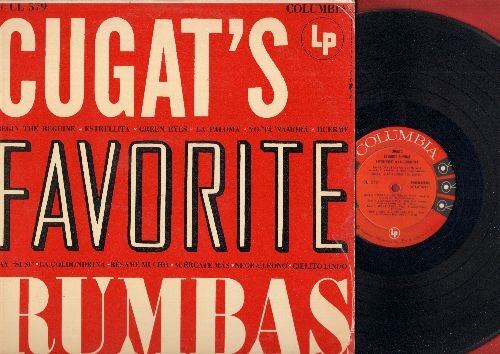 Cugat, Xavier & His Orchetra - Cugat's Favorit Rumbas: Begin The Beguine, La Paloma, Say Si Si, Cielito Lindo, Besame Mucho (vinyl MONO LP record) - EX8/EX8 - LP Records