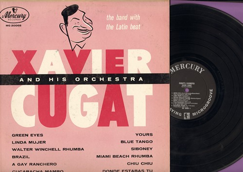 Cugat, Xavier & His Orchestra - Cugat's Favorites: Brazil, Linda Mujer, Green Eyes, Miami Beach Rhumba, Cucaracha Mambo (vinyl MONO LP record) - EX8/EX8 - LP Records