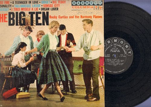 Curtiss, Rocky & The Harmony Flames - The Big Ten: A Teenager In Love, Gidget, Personality, Dream Lover, Tallahassee Lassie (vinyl MONO LP record) - EX8/EX8 - LP Records