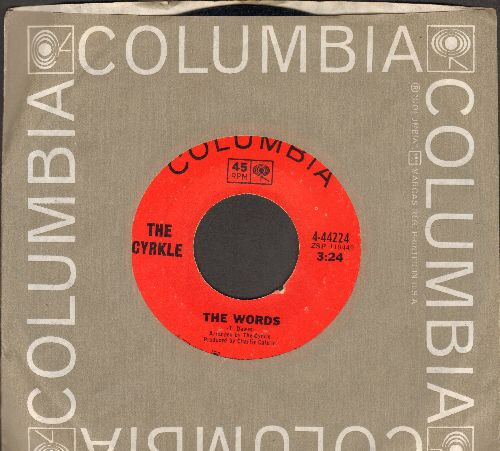 Cyrkle - The Words/Penny Arcade (RARE Orange label pressing with matching Columbia company sleeve) - NM9/ - 45 rpm Records