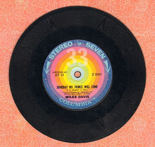 Davis, Miles - Someday My Prince Will Come/Old Folks (RARE 7 inch 33 rpm STEREO record, small spindle hole) - EX8/ - 45 rpm Records