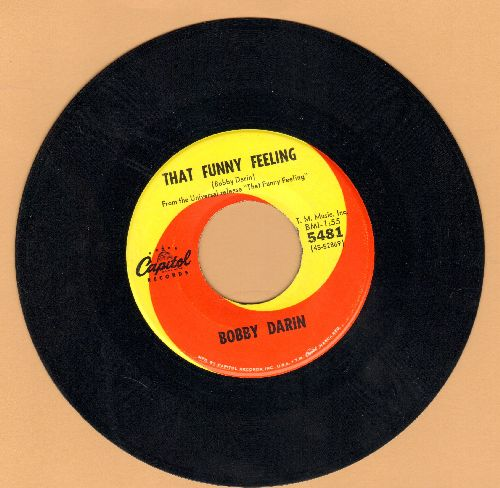 Darin, Bobby - That Funny Feeling/Gyp The Cat - NM9/ - 45 rpm Records