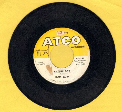Darin, Bobby - Nature Boy/Look For True Love  - EX8/ - 45 rpm Records