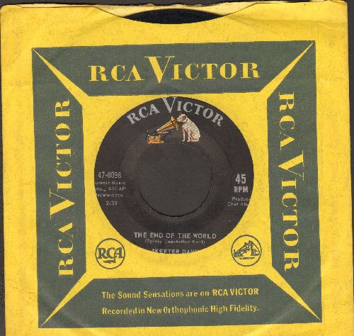 Davis, Skeeter - The End Of The World/Somebody Loves You (with RCA company sleeve) - VG7/ - 45 rpm Records