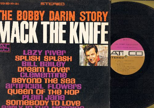 Darin, Bobby - Bobby Darin Story: Splish Splash, Dream Lover, Beyond The Sea, Plain Jane, Bill Baley, Clementine  (vinyl STEREO LP record, purple/ocre label) - EX8/EX8 - LP Records