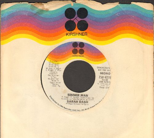 Dash, Sarah - Sinner Man (double-A-sided DJ avance pressing, MONO and STEREO version with Kirshner company sleeve) - NM9/ - 45 rpm Records