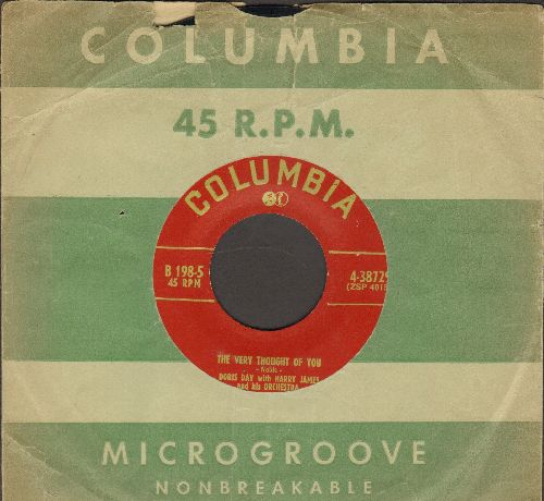 Day, Doris - The Very Thought Of You/Limehouse Blues (with Columbia company sleeve) - EX8/ - 45 rpm Records