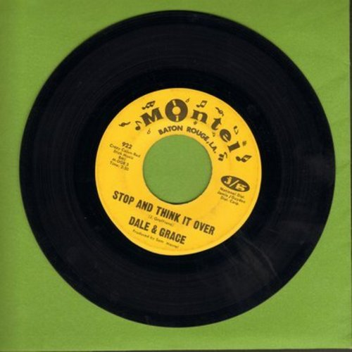 Dale & Grace - Stop And Think It Over/Bad Luck  - EX8/ - 45 rpm Records