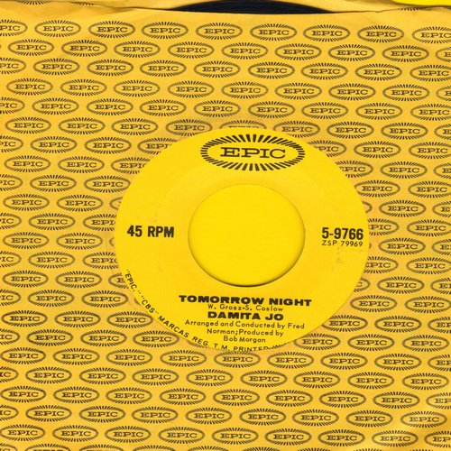 Damita Jo - Tomorrow Night/Silver Dollar (with vintage Epic company sleeve) - NM9/ - 45 rpm Records