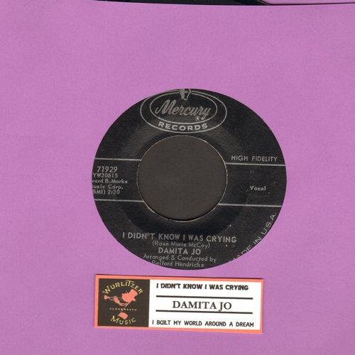 Damita Jo - I Didn't Know I Was Crying/I Built My World Around A Dream  - NM9/ - 45 rpm Records