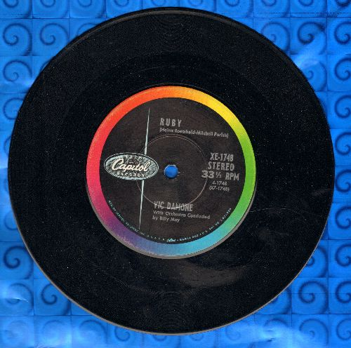 Damone, Vic - Ruby/Dearly Beloved (7 inch 33rpm STEREO record) - NM9/ - 45 rpm Records