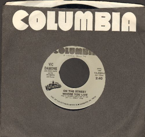 Damone, Vic - On The Street Where You Live/Gigi (double-hit re-issue) - NM9/ - 45 rpm Records