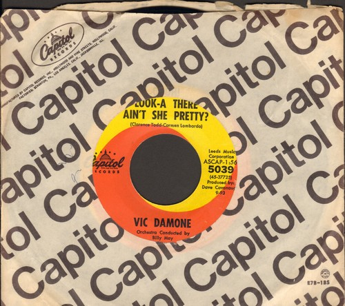 Damone, Vic - Look-A There Ain't She Pretty?/Wives And Lovers (with Capitol company sleeve) - NM9/ - 45 rpm Records