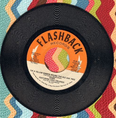 Dawn  - Tie A Yellow Ribbon Round The Ole Oak Tree/Say, Has Anybody Seen My Sweet Gypsy Rose (double-hit re-issue) - NM9/ - 45 rpm Records
