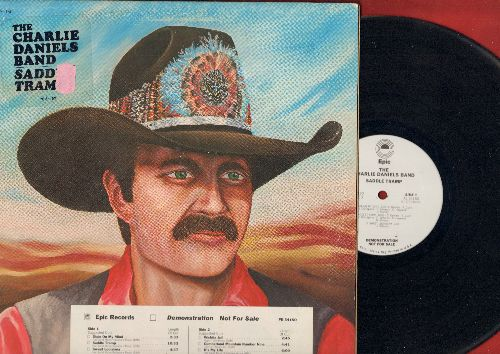 Daniels, Charlie Band - Saddle Tramp: Dixie On My Mind, Sweet Louisiana, Wichita Jail, It's My Life, Sweetwater Texas (vinyl STEREO LP record, DJ advance pressing, title sticker on cover) - NM9/EX8 - LP Records