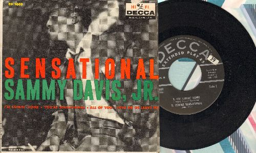 Davis, Sammy Jr. - Sensational: I'm Comin' Home/You're Sensational/All Of You/Love Me Or Leave Me (vinyl EP record with picture cover) - NM9/EX8 - 45 rpm Records