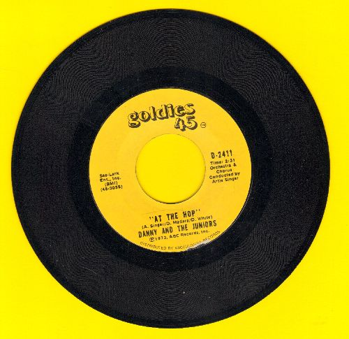 Danny & The Juniors - At The Hop/Rock And Roll Is Here To Stay (double-hit re-issue) - NM9/ - 45 rpm Records