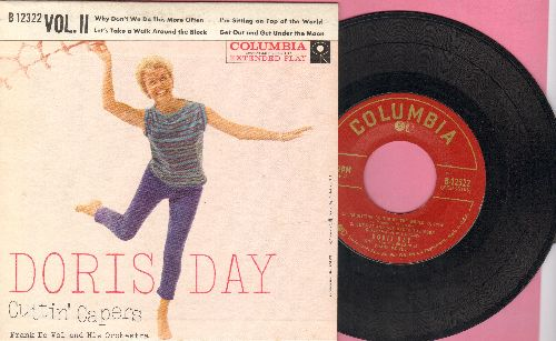 Day, Doris - Cuttin' Capers Vol. 2: I'm Sitting On Top Of The World/Why Don't We Do This More Often/Let's Talk A Walk Around The Block/Get Out And Get Under The Moon (vinyl EP record with picture cover) - EX8/EX8 - LP Records