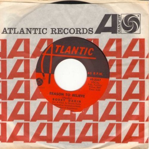 Darin, Bobby - Reason To Believe/The Girl That Stood Beside Me (with Atlantic company sleeve) - M10/ - 45 rpm Records