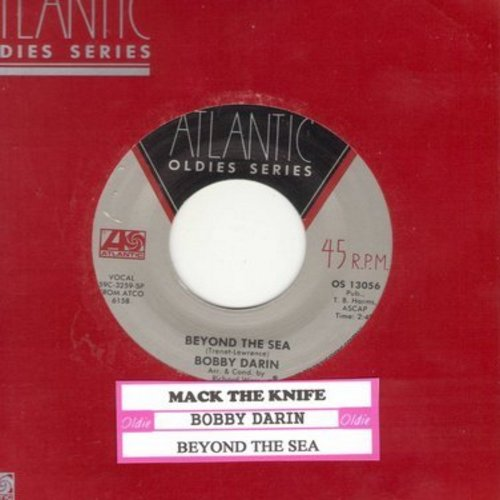 Darin, Bobby - Beyond The Sea/Mack The Knife (re-issue with juke box label) - EX8/ - 45 rpm Records