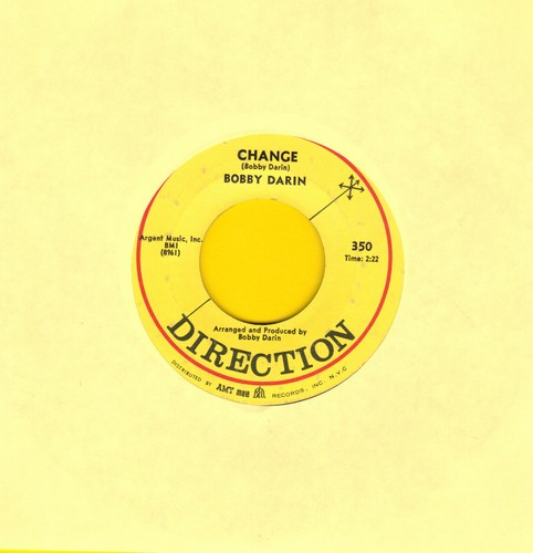 Darin, Bobby - Long Line Rider/Change - EX8/ - 45 rpm Records