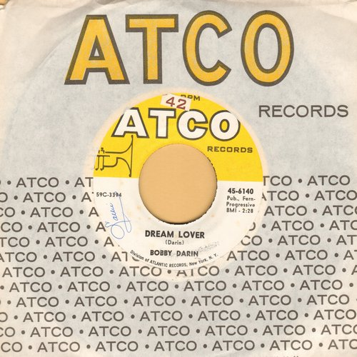 Darin, Bobby - Dream Lover/Bullmoose (with vintage Atco company sleeve) (sol) - VG7/ - 45 rpm Records