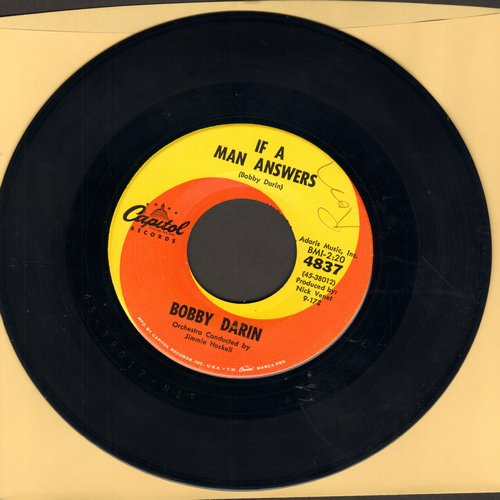Darin, Bobby - If A Man Answers/A True True Love  - EX8/ - 45 rpm Records