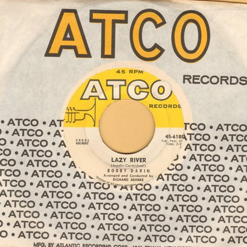 Darin, Bobby - Lazy River/Oo-Ee-Train (with Atco company sleeve) - EX8/ - 45 rpm Records