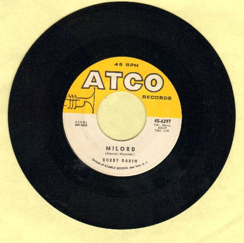 Darin, Bobby - Milord/Golden Earrings (wol) - EX8/ - 45 rpm Records