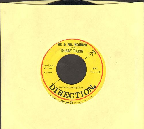 Darin, Bobby - Me & Mrs. Hohner/Song For A Dollar (bb) - EX8/ - 45 rpm Records