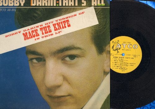 Darin, Bobby - That's All: Mack The Knife, Beyond The Sea, Some Of These Days, It Ain't Necessarily So (vinyl MONO LP record, yellow harp label)(soc) - VG7/NM9 - LP Records