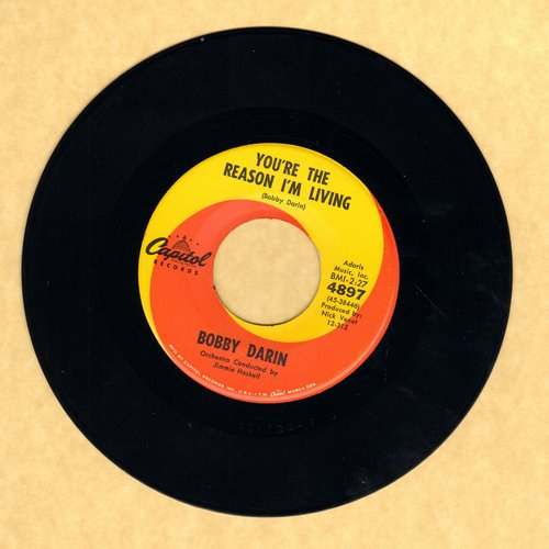Darin, Bobby - You're The Reason I'm Living/Now You're Gone  - NM9/ - 45 rpm Records