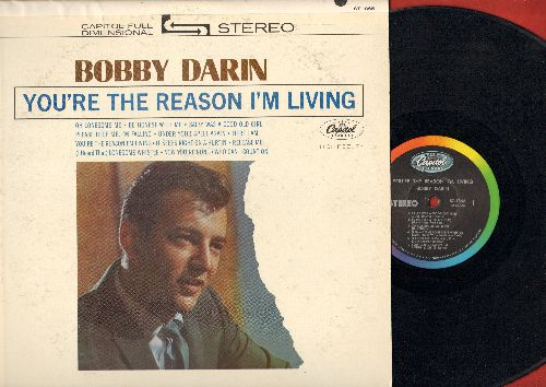 Darin, Bobby - You're The Reason I'm Living: It Keeps Right On A-Hurtin', Please Help Me I'm Falling, Release Me, Sally Was A Good Old Girl (vinyl STEREO LP record) - EX8/VG7 - LP Records