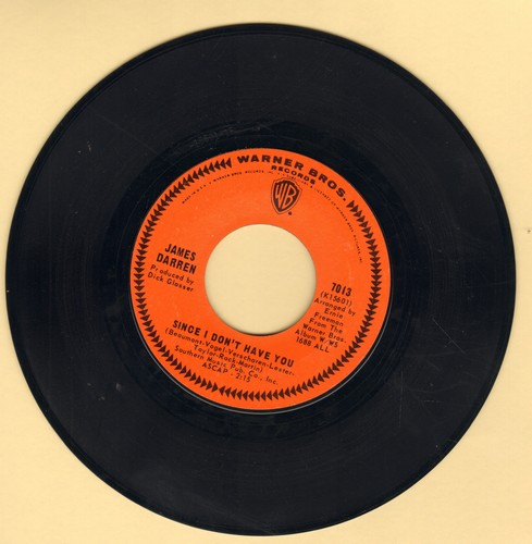 Darren, James - Since I Don't Have You/I Miss You So - NM9/ - 45 rpm Records