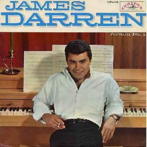 Darren, James - Album No. 1: Let's Fall In Love, (Wait 'Til You See My) Gidget, Let There Be Love, Sweet Lorraine, Walkin' My Baby Back Home (vinyl MONO LP record, NICE condition!) - M10/EX8 - LP Records
