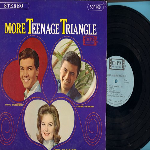 Fabares, Shelley, James Darren, Paul Petersen - More Teenage Triangle: Put On A Happy Face, Billy Boy, One Girl, He Don't Love Me, Kids (Folks), Gegetta (vinyl STEREO LP record) - NM9/EX8 - LP Records