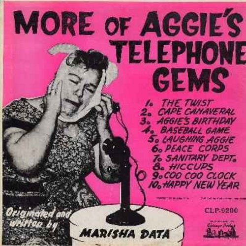 Data, Marisha - More Of Aggie's Telephone Gems - Aggie talks and talks and talk on the phone with various girl-friends, all in her thick-as-cheese first generation Immigrant accent. - EX8/EX8 - LP Records