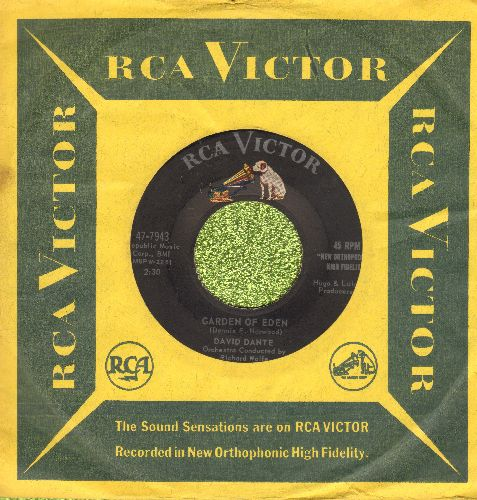 Dante, David - Juanita/Garden Of Eden (with vintage RCA company sleeve) - EX8/ - 45 rpm Records