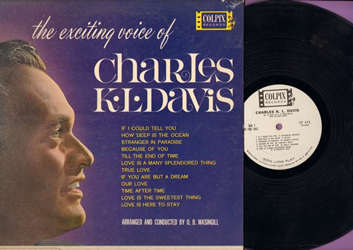 Davis, Charles K. L. - The Exciting Voice Of Chalres K. L. Davis: How Deep Is The Ocean, True Love, Love Is A Many Splendored Thing, Stranger In paradise (vinyl MONO LP record, DJ advance pressing) - EX8/EX8 - LP Records