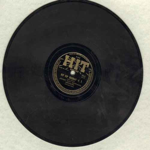 Davis, Johnny Scat  - Hip Hip Hurray (For The USA)/White Christmas (10 inch 78 rpm record, cheerful WWII Morale Novelty) - VG7/ - 78 rpm