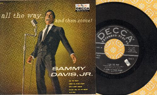 Davis, Sammy Jr. - All The Way/Look To Your Heart/We'll Meet Again/In The Still Of The Night (vinyl EP record with picture cover) - NM9/EX8 - 45 rpm Records