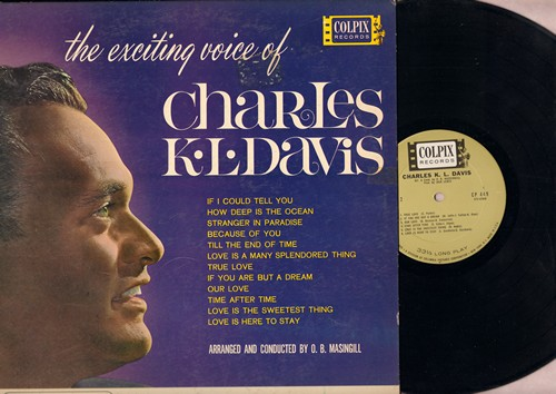 Davis, Charles K. L. - The Exciting Voice Of Chalres K. L. Davis: How Deep Is The Ocean, True Love, Love Is A Many Splendored Thing, Stranger In paradise (vinyl MONO LP record) - NM9/EX8 - LP Records