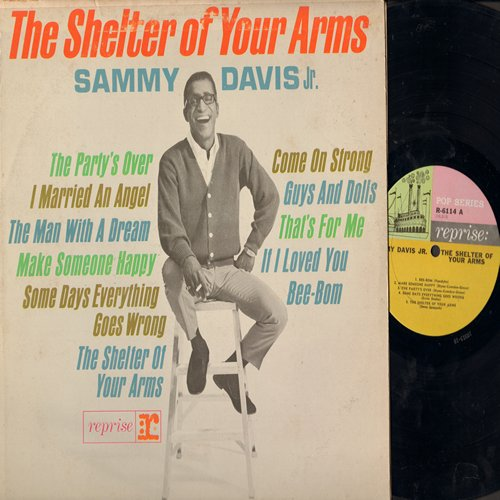 Davis, Sammy Jr. - The Shelter Of Your Arms: The Party's Over, Make Someone Happy, If I Loved You, Guys And Dolls (vinyl MONO LP record) - EX8/VG7 - LP Records