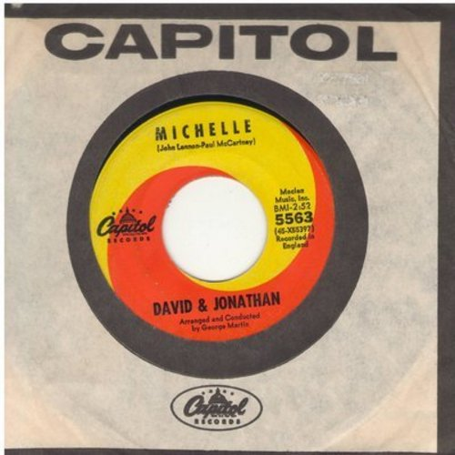 David & Jonathan - Michelle/How Bitter The Taste Of Love (with vintage Capitol company sleeve) - VG7/ - 45 rpm Records