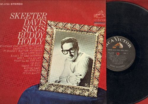 Davis, Skeeter - Skeeter Davis Sings Buddy Holly: Maybe Baby, That'll Be The Day, True Love Ways, Heartbeat, Think It Over, It's So Easy (vinyl STEREO LP record) - EX8/NM9 - LP Records