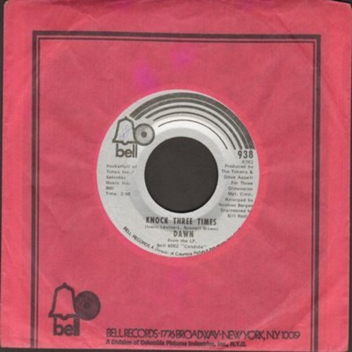 Dawn - Knock Three Times/Home (with Bell company sleeve) - NM9/ - 45 rpm Records