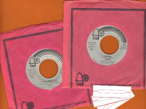 Dawn - Candida/Knock Three Times (2 first pressings for the price of 1, with Bell company sleeve and 3 blank juke box labels) - NM9/ - 45 rpm Records