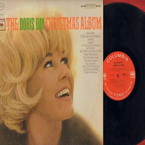 Day, Doris - The Doris Day Christmas Album: Silver Bells, Winter Wonderland, I'll Be Home For Christmas, White Christmas, Have Yourself A Merry Little Christmas (vinyl STEREO LP record) - EX8/EX8 - LP Records